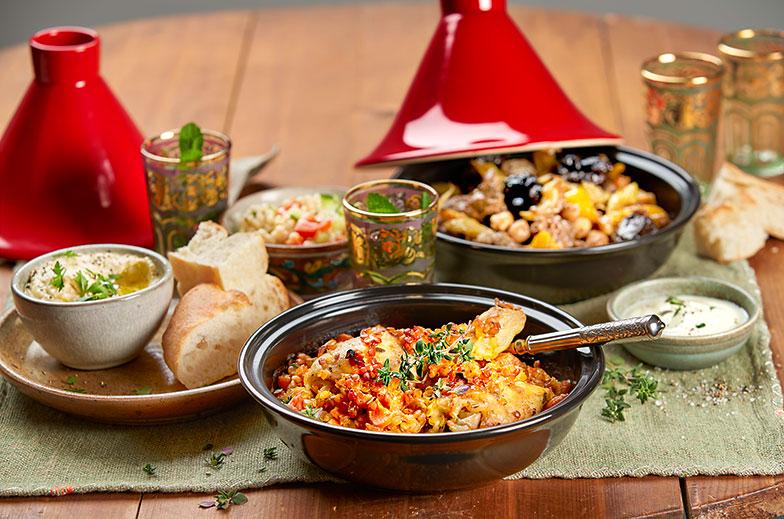 Gewürz Induktion Marokkanische Marrakesch Tajine Tagine Ton Topf zum Kochen