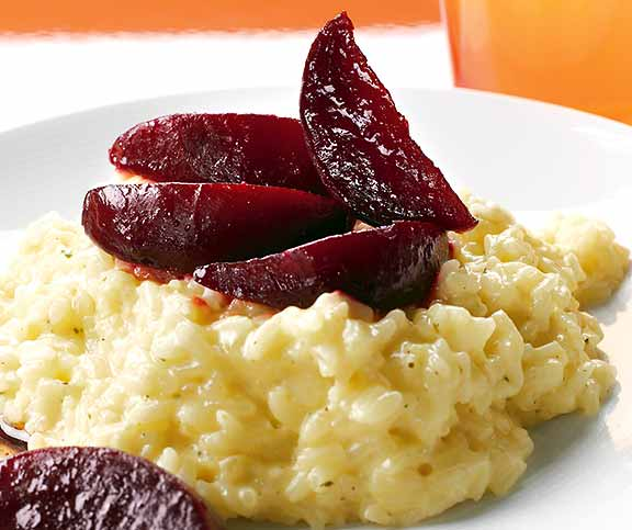 Risotto aux betteraves