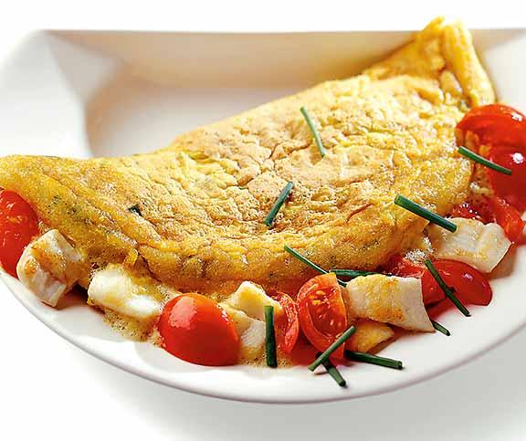 Französisches Omelett zur Gewichtsreduktion